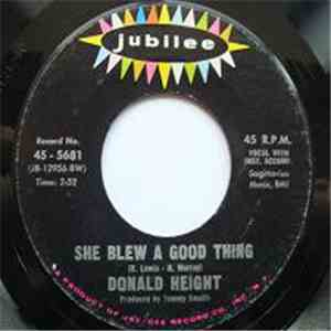 Donald Height - She Blew A Good Thing
